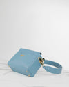 Light blue vegan leather handbag crueltyfree ecofriendly sustainable