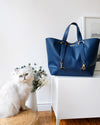 dark bue vegan tote bag from Jenah St.