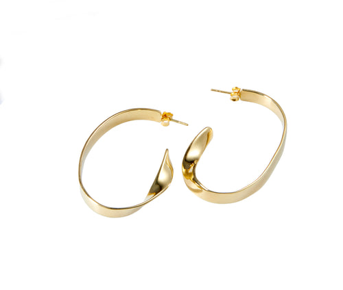 Julio Hoops in Gold Vermeil