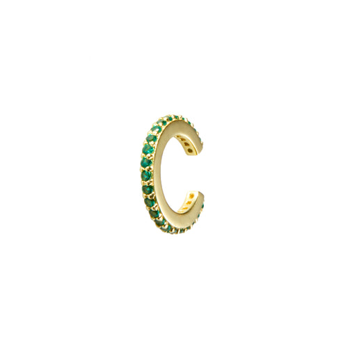Kasbah Cuff in Gold with Emerald Zirconia