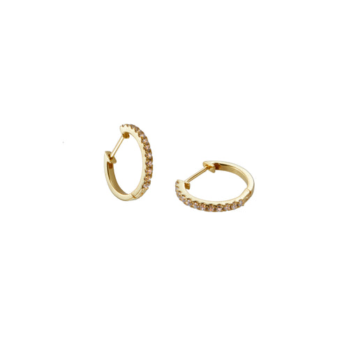Hoopla Earring in Gold with Zirconia