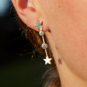 Lucky Star Earring in Silver with Zirconia