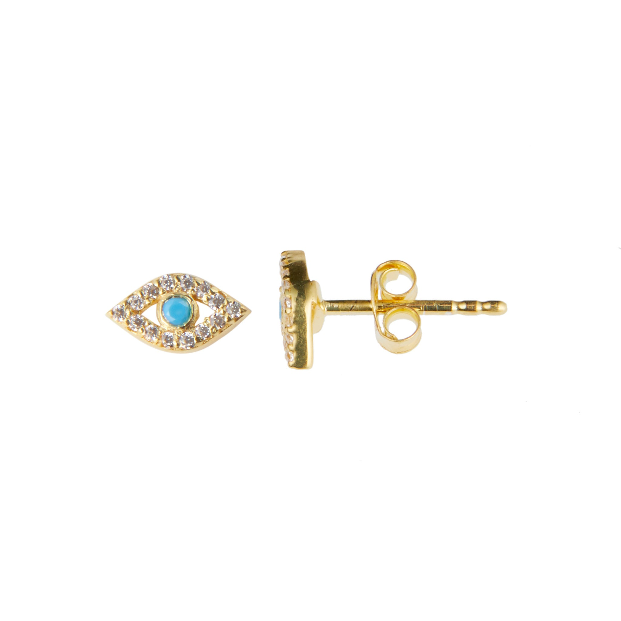 Cleo Earring in Gold with Turquoise