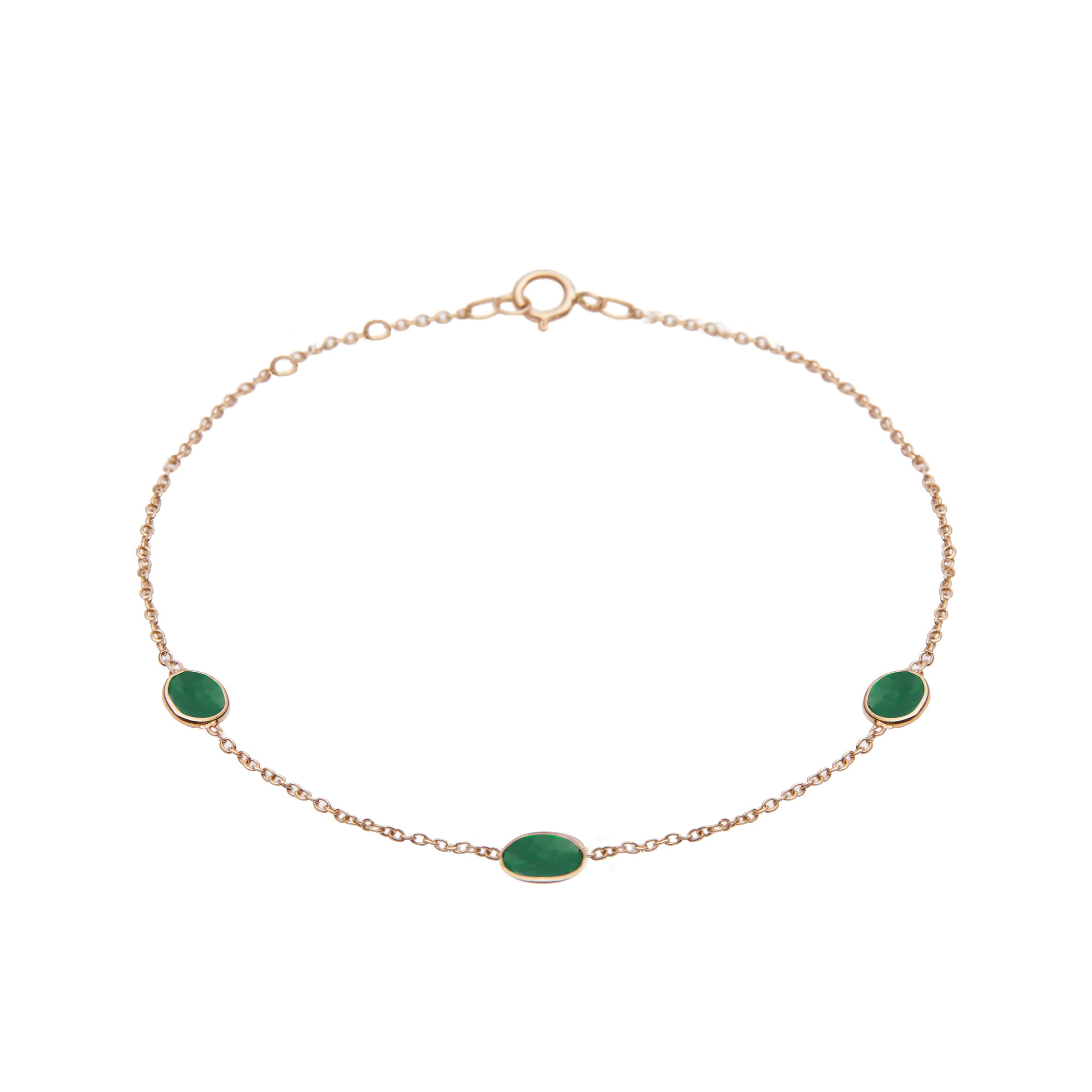 Hepburn Bracelet in Gold with Emerald