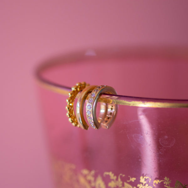 Coco Cuff in Gold with Zirconia