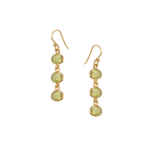 Trellis Earring in Gold with Peridot