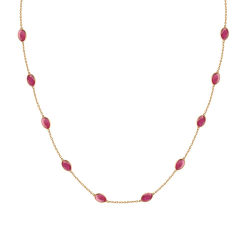 Hepburn Necklace in Gold with Ruby