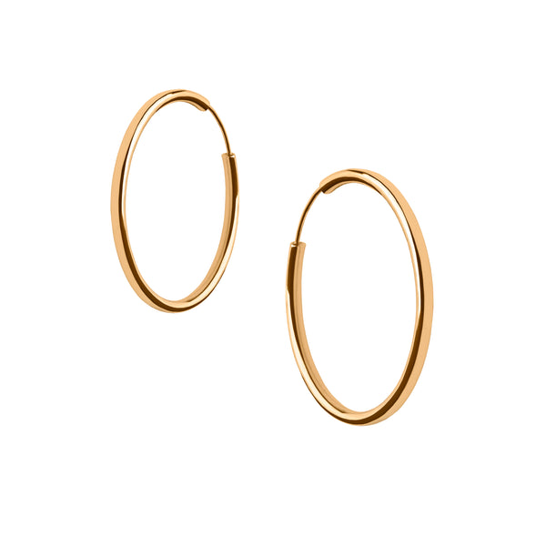 Holly Hoops in Gold