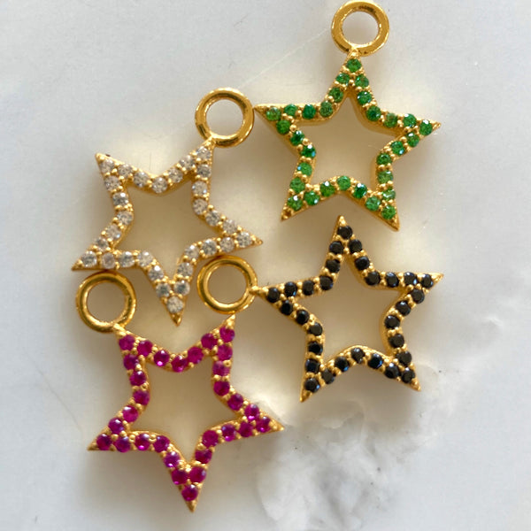 Zirconia Bejewelled Star