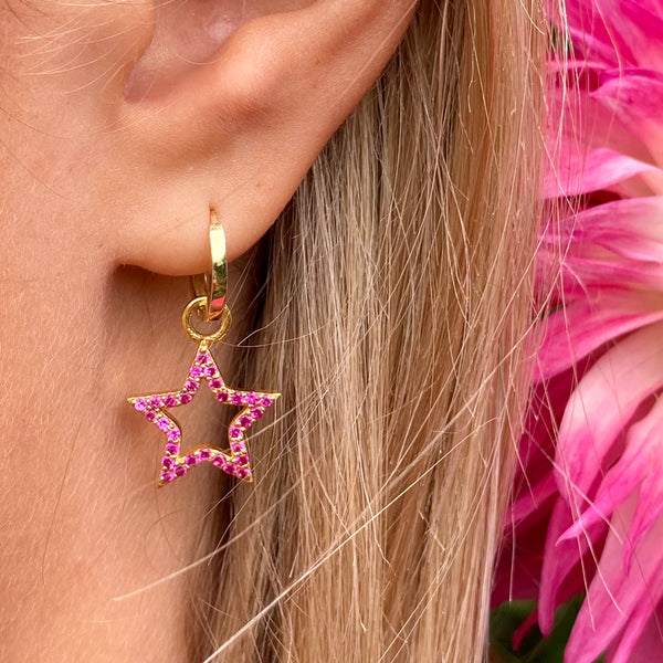 Pink Zirconia Bejewelled Star