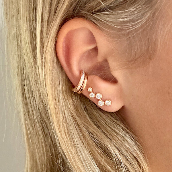 Aquila Studded Ear Jewel in Rose Gold with Zirconia