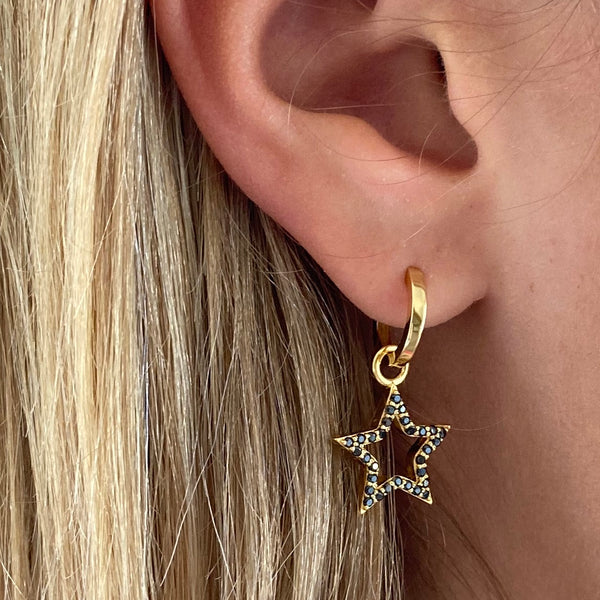 Black Zirconia Bejewelled Star