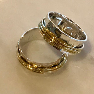 Kalinka Turning Ring in Silver and Brass