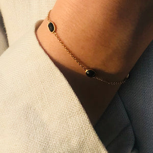Hepburn Bracelet in Rose Gold with Sapphire