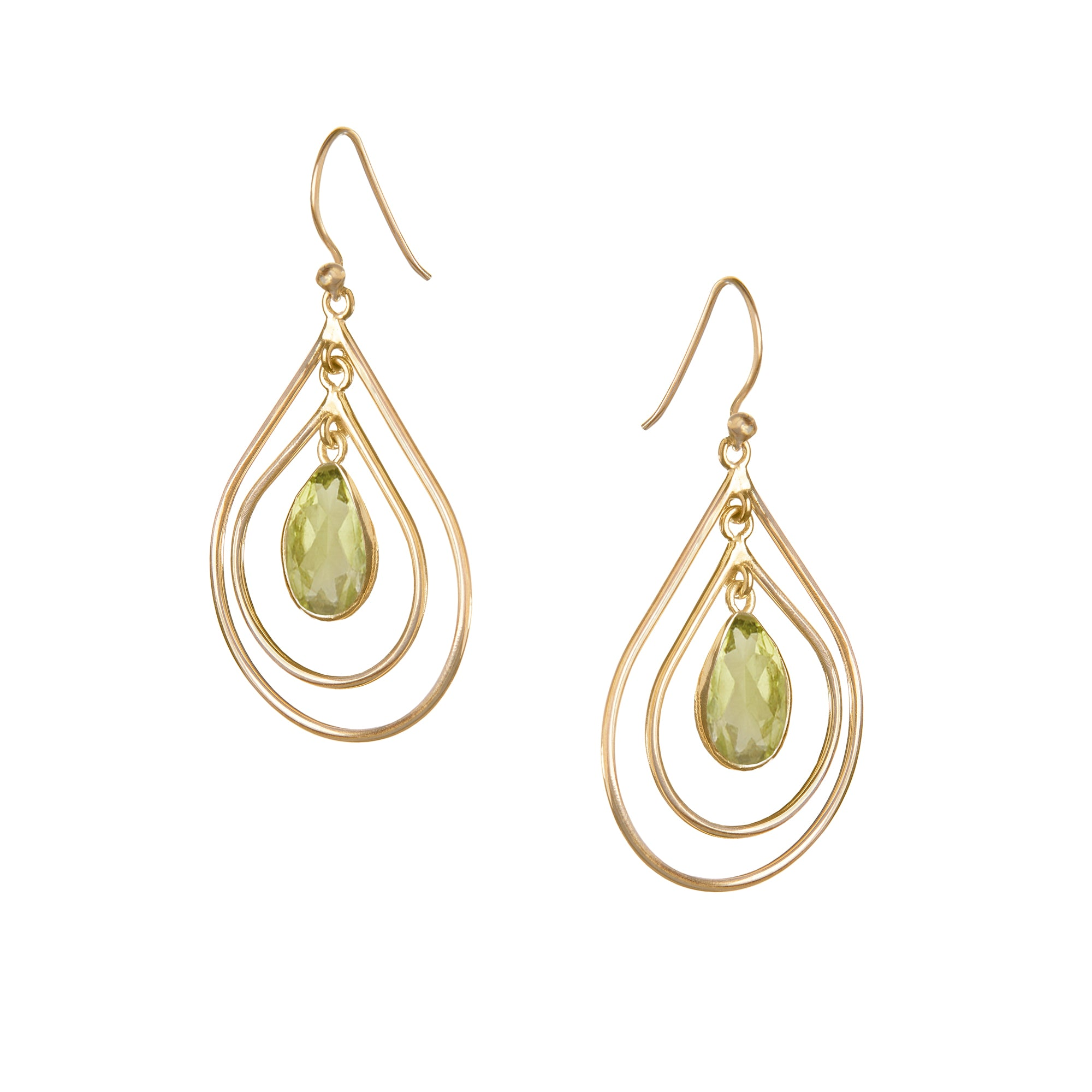 Lolita Earring in Gold with Peridot