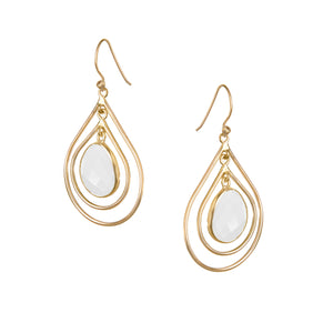 Lolita Earring in Gold with Moonstone