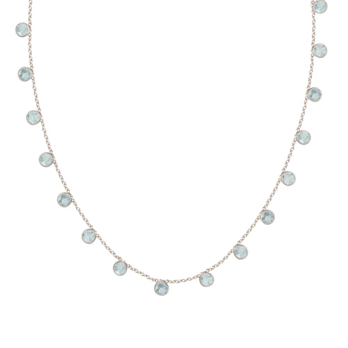 Zaza Necklace in Silver with Topaz