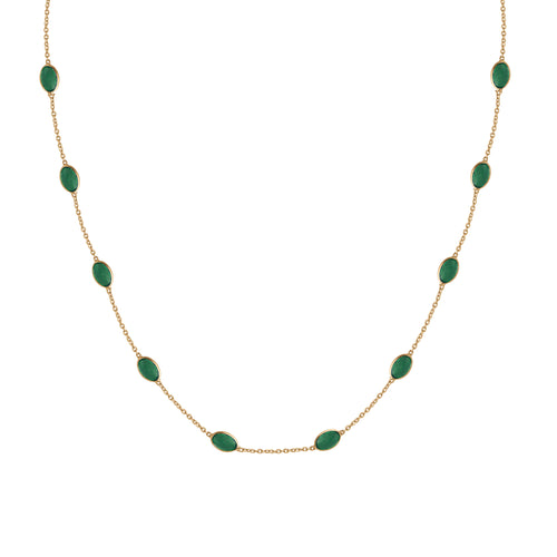 Hepburn Necklace in Gold with Emerald