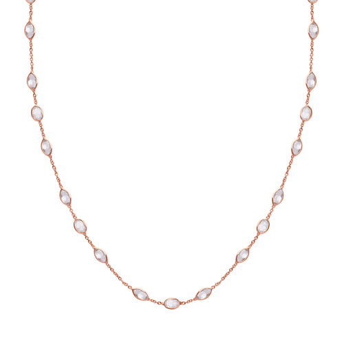 Malike Necklace in Rose Gold and Zirconia