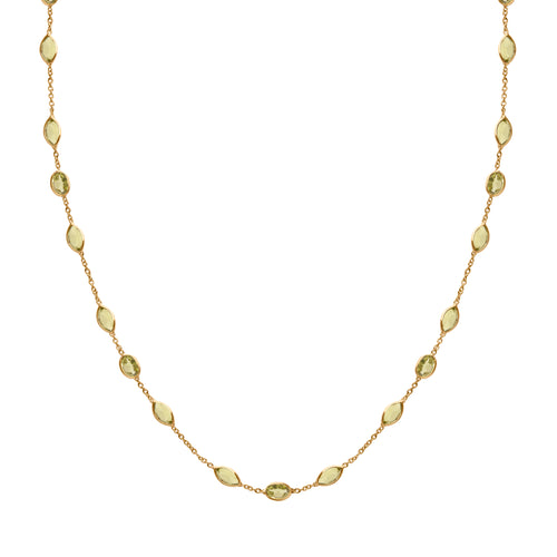 Malike Necklace in Gold with Peridot