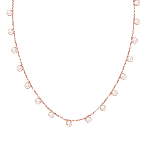 Zaza Necklace in Rose Gold with Zirconia