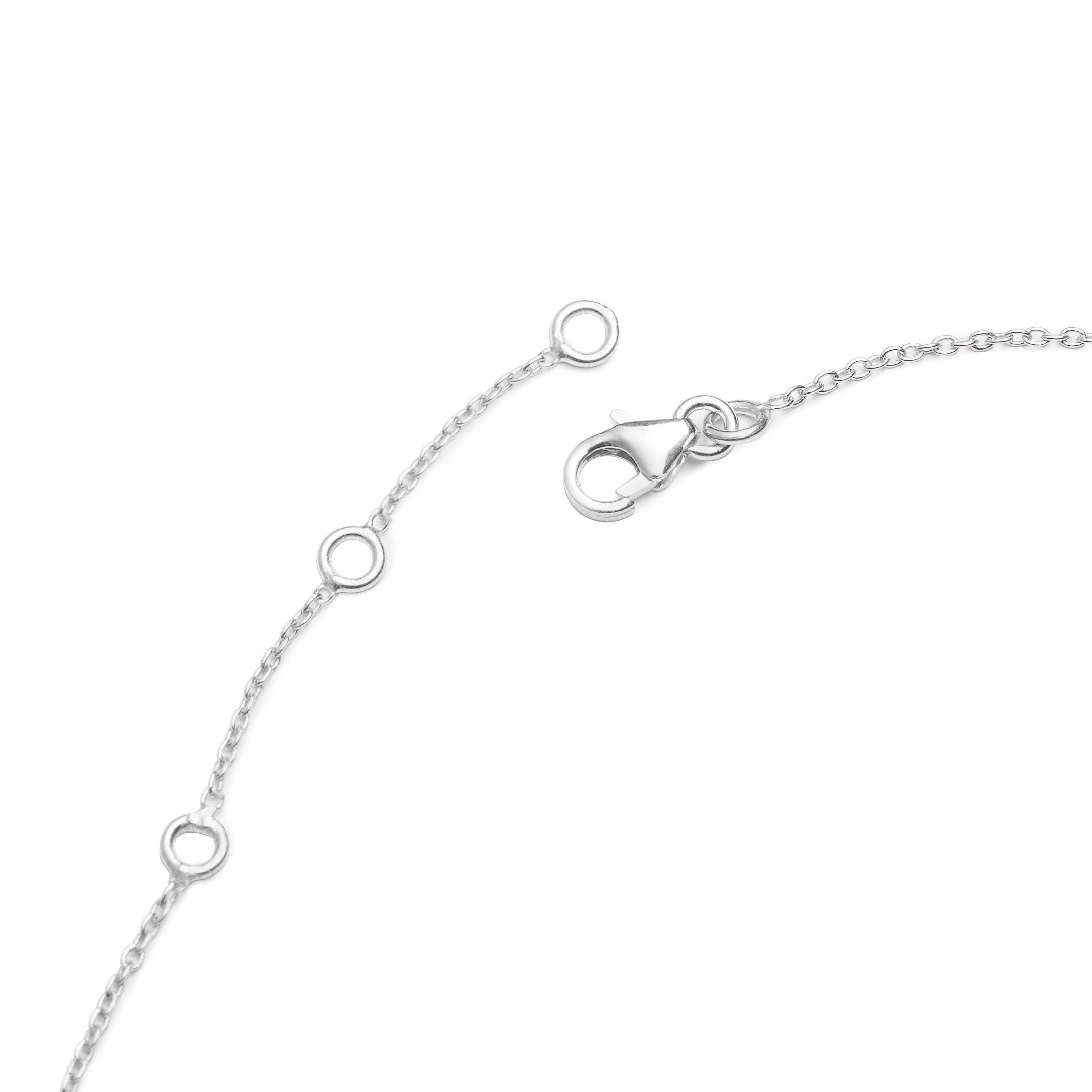 Hepburn Necklace in Silver with Sapphire