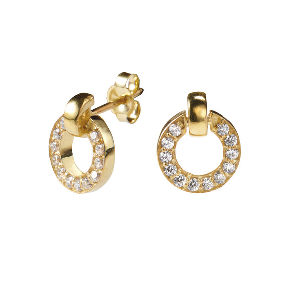 Tinker Earring in Gold with Zirconia
