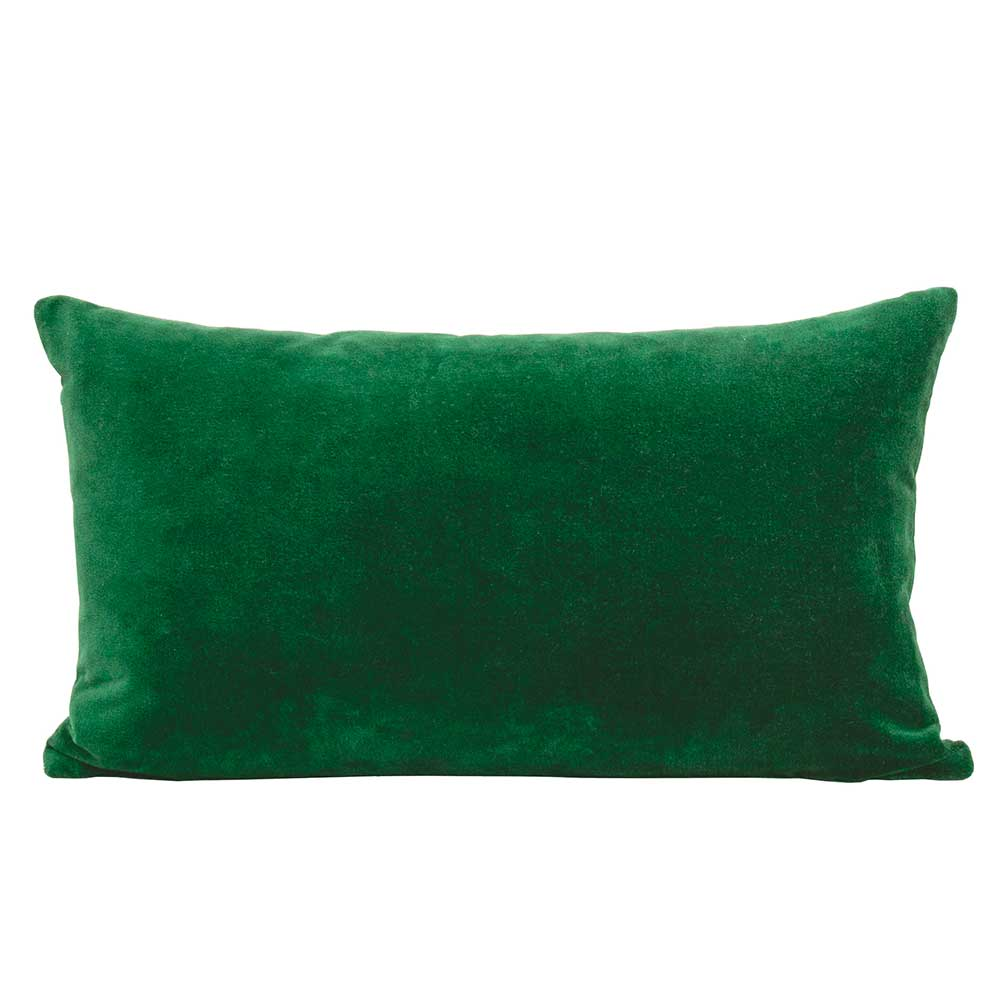Velvet cushion - Parrot Green
