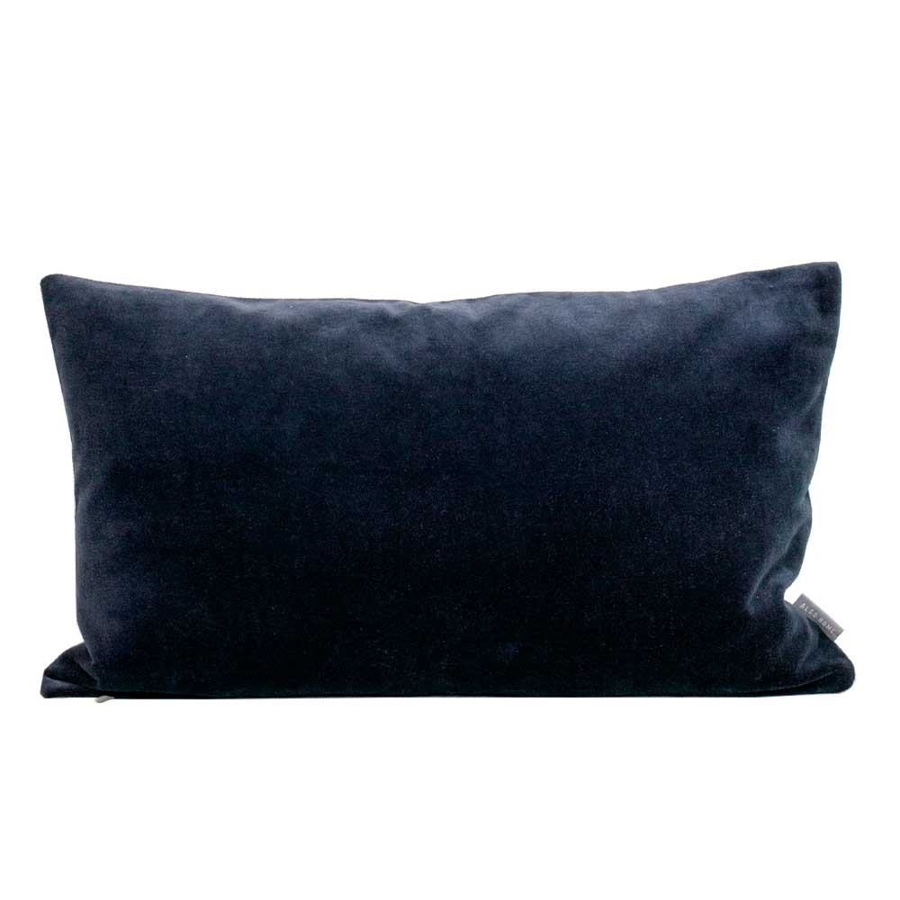 Velvet cushion - Indigo