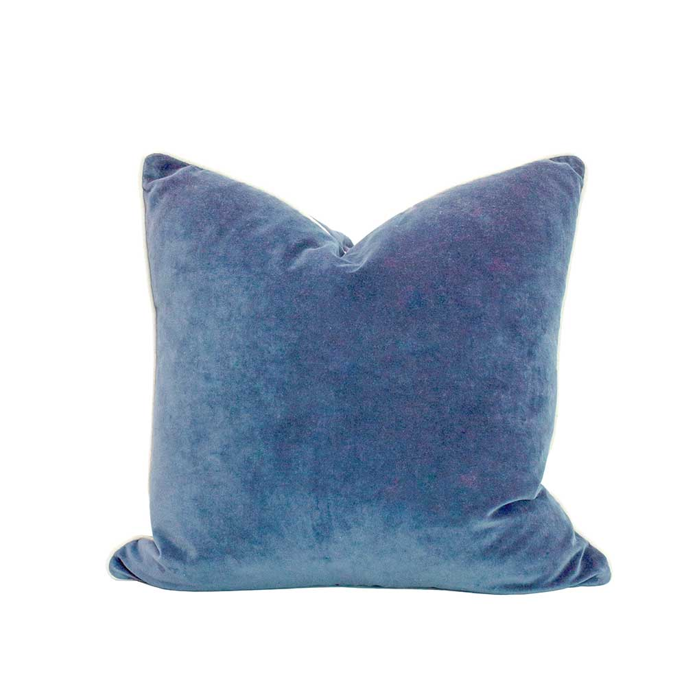 Velvet cushion - Fjord blue