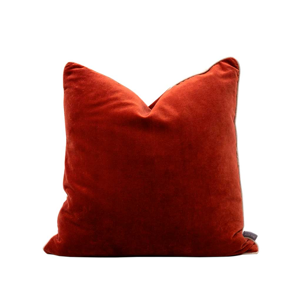 Velvet cushion - Rust