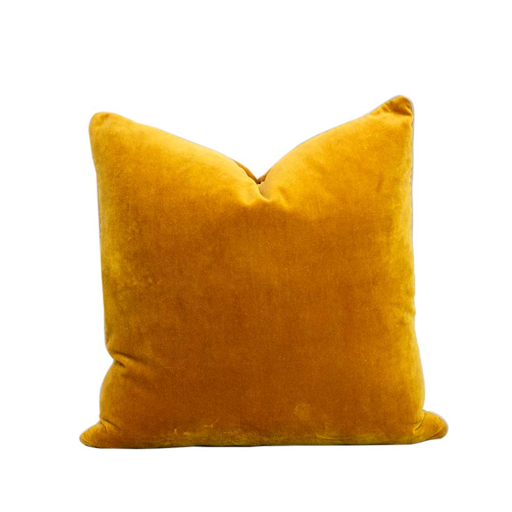 Velvet cushion - Turmeric