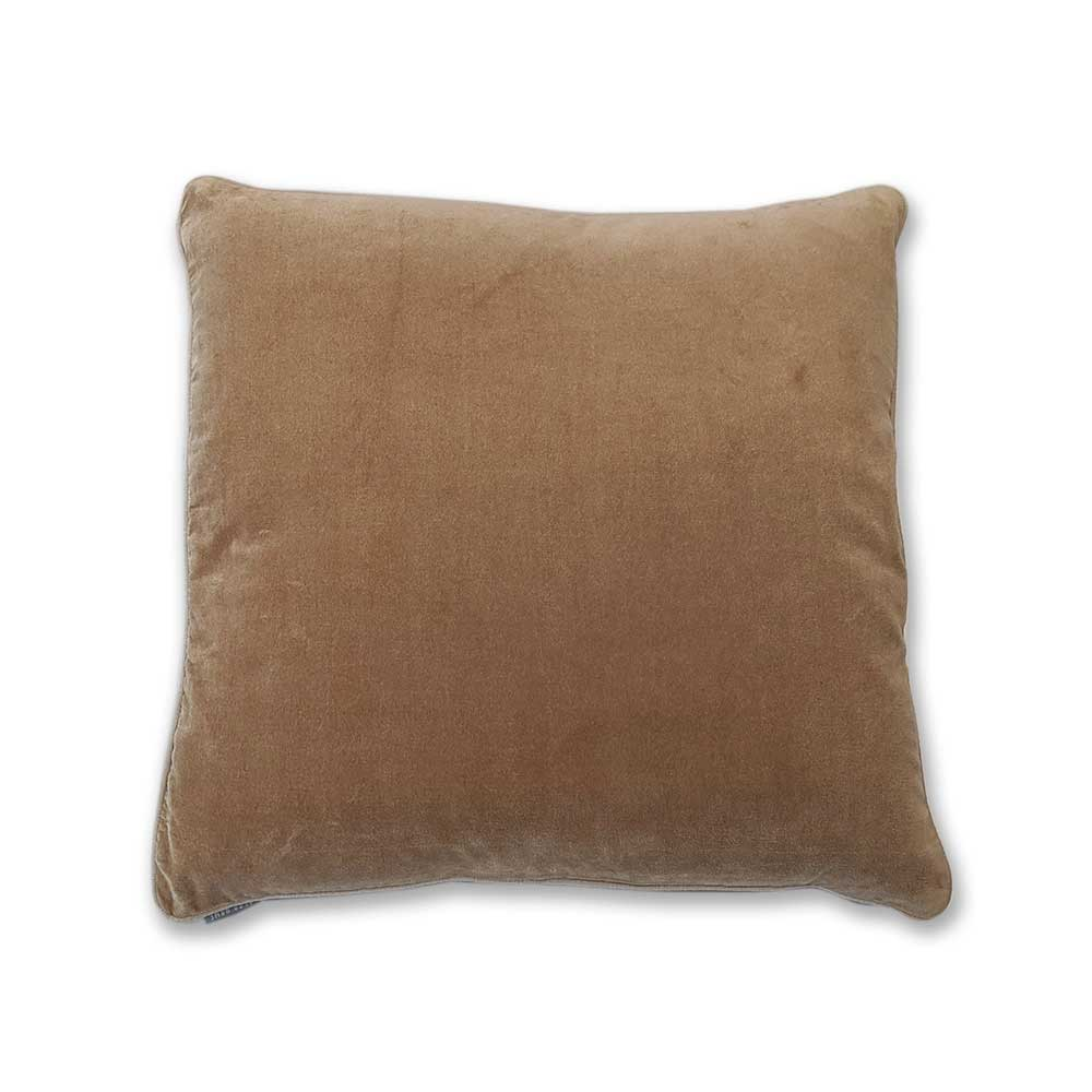 Velvet cushion - Camel - Clare Laughland at Home