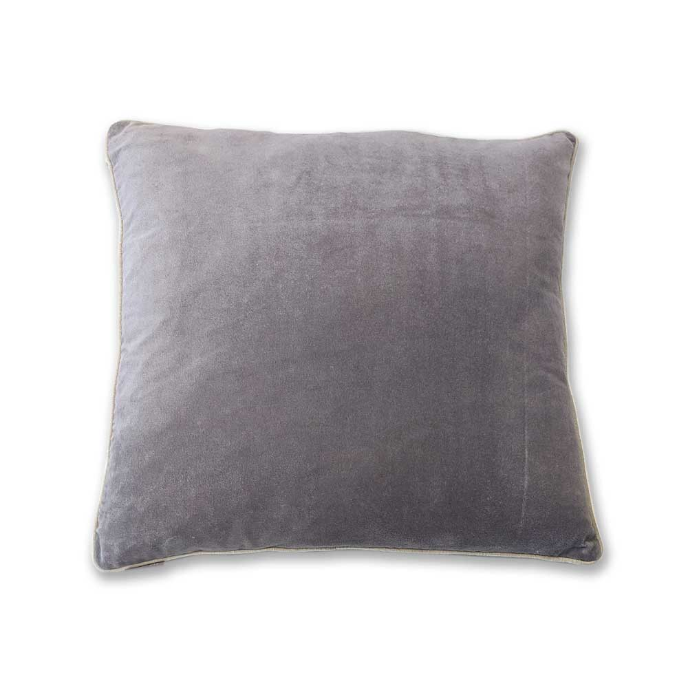 Velvet cushion - Pewter - Clare Laughland at Home