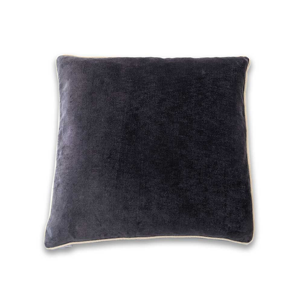 Velvet cushion - Slate grey - Clare Laughland at Home