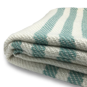 Striped Blanket - Teal - Clare Laughland at Home