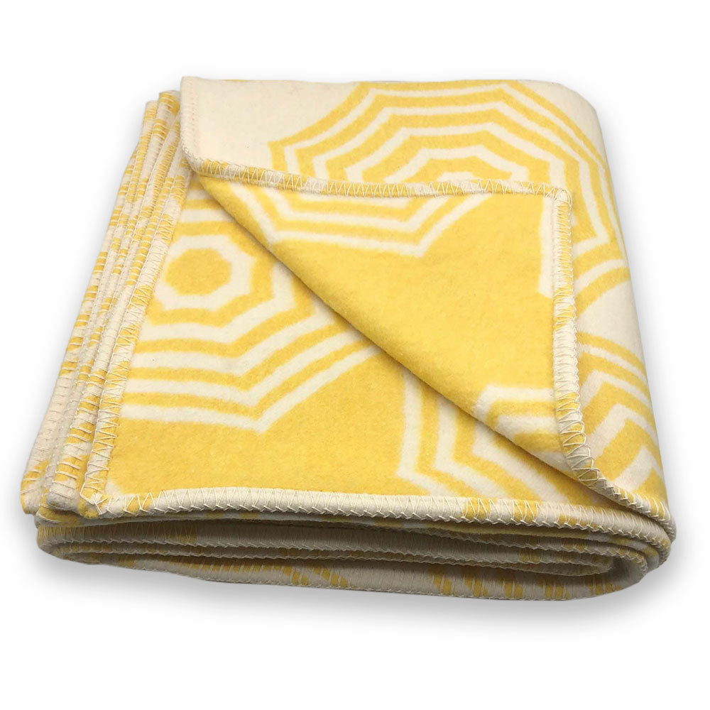 Recycled Cotton Blanket - Yellow Parasol - Clare Laughland at Home
