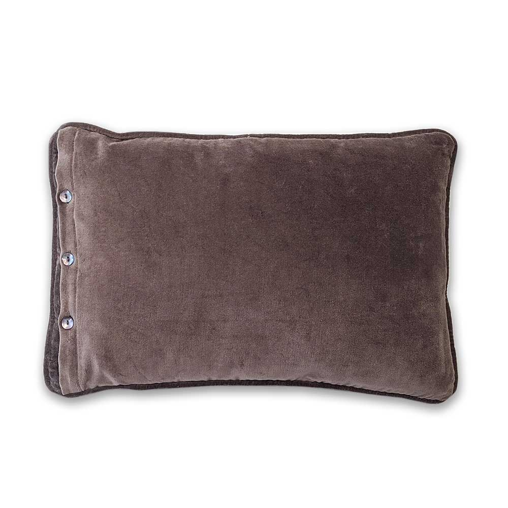Buttoned cushions - Grey/brown - Clare Laughland at Home