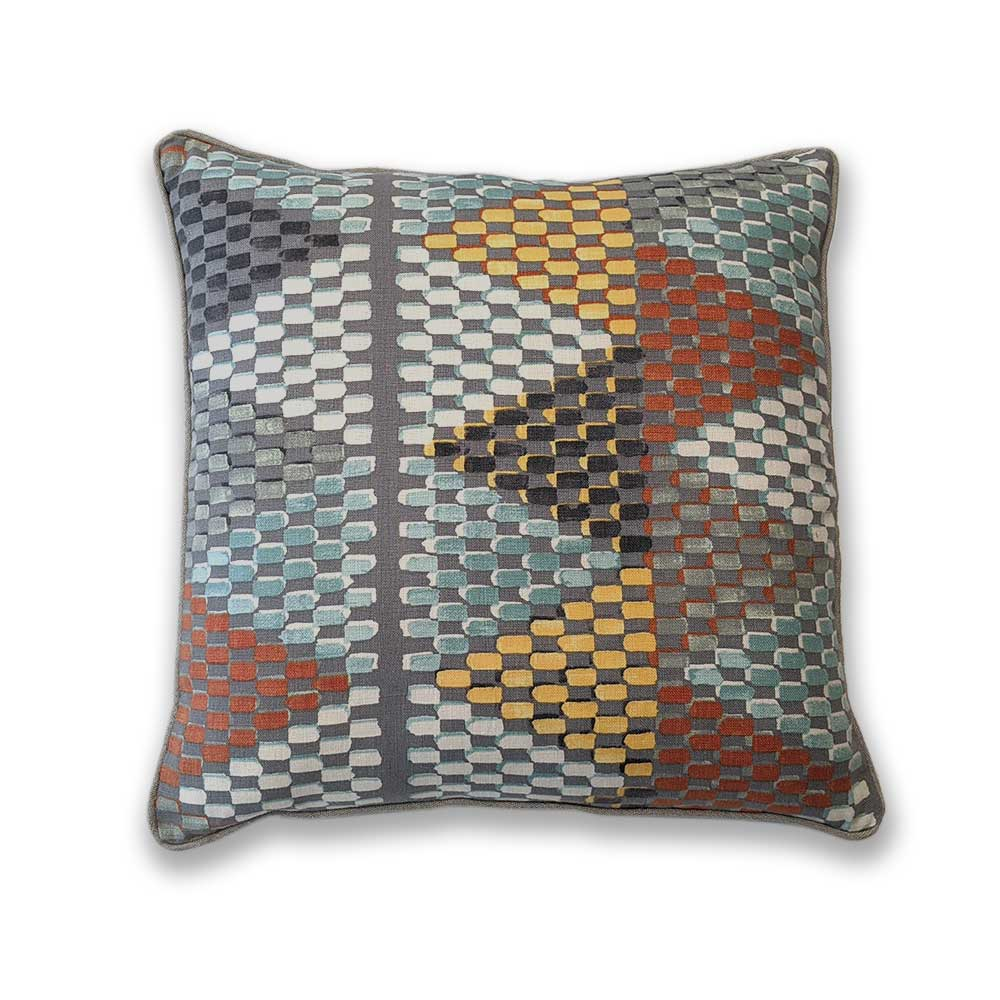 Printed linen cushion - Clare Laughland at Home