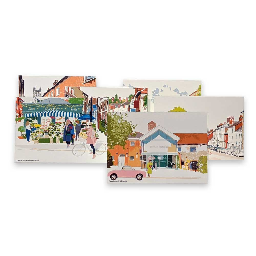 Farnham greetings card - pack of six