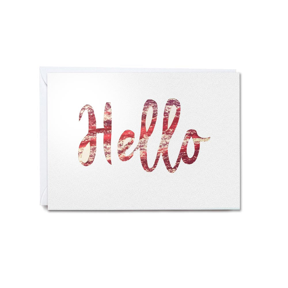 Hand-cut greetings cards of good cheer - Hello
