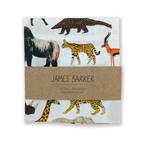 Cotton handkerchief - safari animals - Clare Laughland at Home