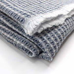 Lightweight wool throw - Blueberry - Clare Laughland at Home