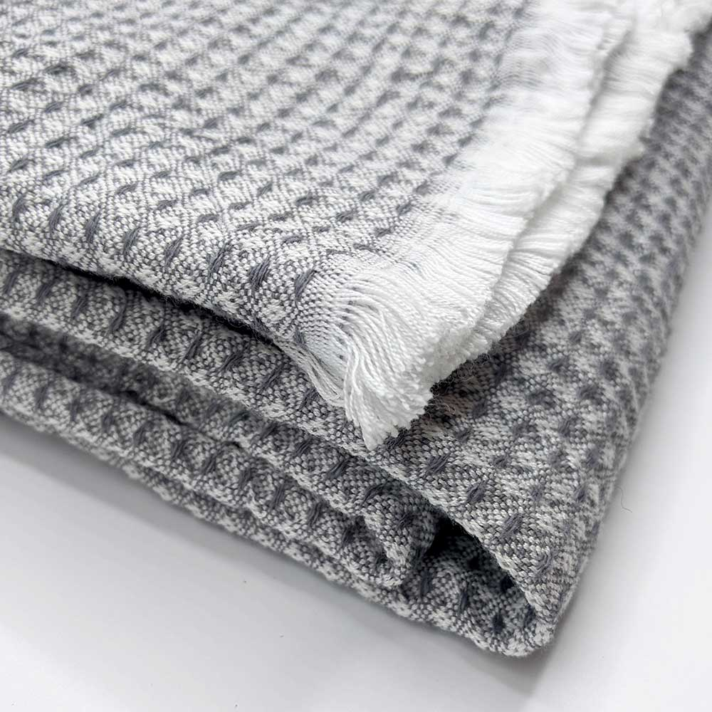 Lightweight wool throw - Grey - Clare Laughland at Home