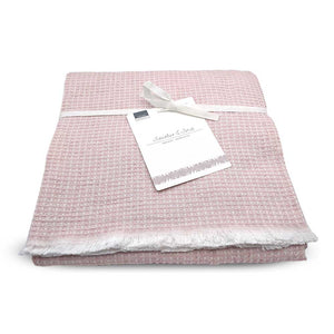 Lightweight wool throw - Rose - Clare Laughland at Home