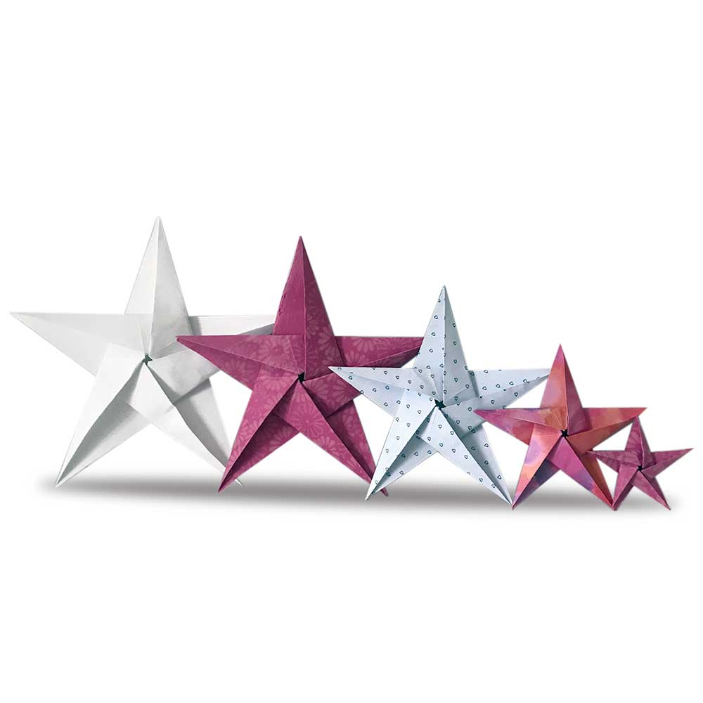 Origami stars - pinks and whites