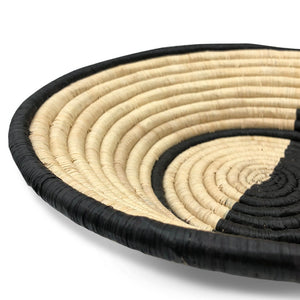 Large Raffia bowl - Monochrome - Clare Laughland at Home
