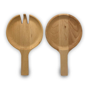 Beechwood Salad Servers - Clare Laughland at Home