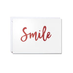 Hand-cut greetings cards of good cheer - Smile - Clare Laughland at Home