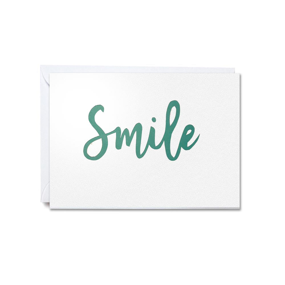 Hand-cut greetings cards of good cheer - Smile